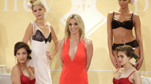 PHOTOS Britney Spears présente sa première collection de lingerie à la fashion week