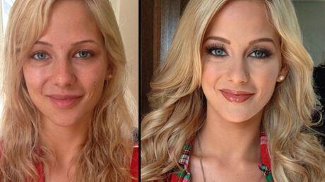 DIAPO Stars du X, playmates, modèles: découvrez leurs incroyables avant-après maquillage!