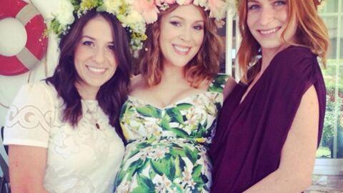 PHOTOS Alyssa Milano: baby shower entre amies en attendant bébé