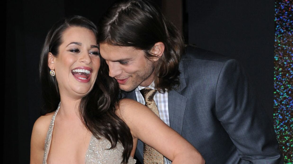 Ashton Kutcher : Lea Michele le trouve sexy