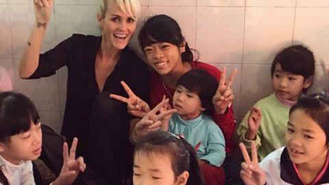 PHOTOS Laeticia Hallyday: émouvantes retrouvailles avec sa petite filleule vietnamienne