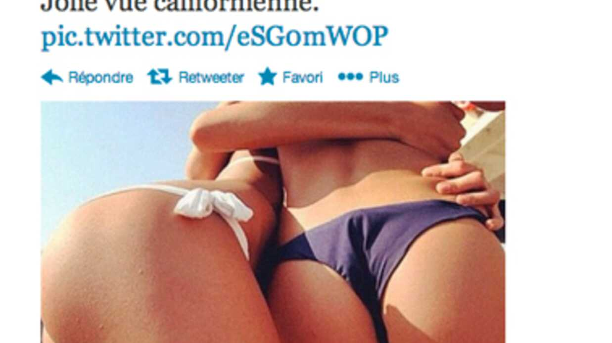PHOTOS Johnny Hally­day poste une photo de fesses sur Twit­ter