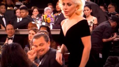 Golden Globes: la réaction hilarante de Leonardo DiCaprio quand Lady Gaga passe trop près de lui