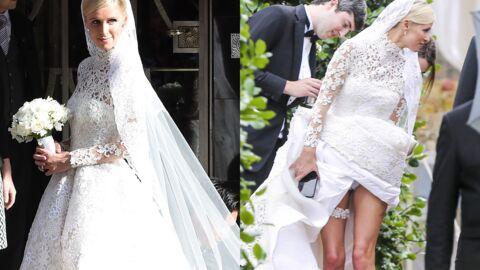 PHOTOS Nicky Hilton sublime en robe de mariée, dévoile accidentellement ses jambes