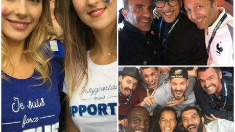 DIAPO Euro 2016: M Pokora, Camille Cerf, Nikos Aliagas … du beau monde dans les tribunes du Stade de France