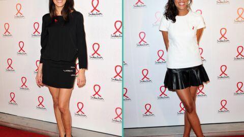 PHOTOS Karine Ferri et Laurie Cholewa sexy au lancement du Sidaction 2014
