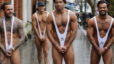 PHOTOS Des acteurs anglais se ridiculisent en sortant en maillot «à la Borat» dans la rue