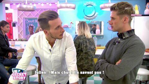 Secret Story 10: Benoît Dubois fait une grosse gaffe et parle de Sophia à Julien