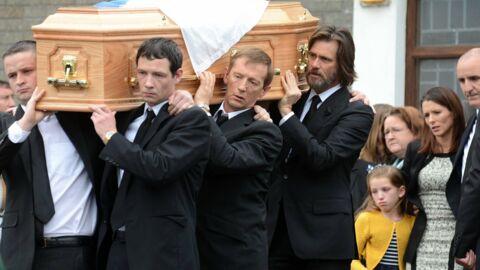 PHOTOS Jim Carrey dévasté aux funérailles de son ex, Cathriona White