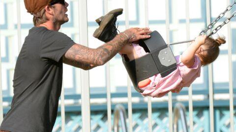 DIAPO David Beckham s'éclate au parc avec Harper