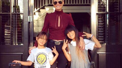 PHOTO Laeticia Hallyday, maman poule pour la rentrée scolaire de ses filles Jade et Joy