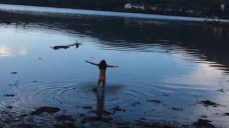 VIDEO Michelle Rodriguez se baigne toute nue après une soirée très arrosée