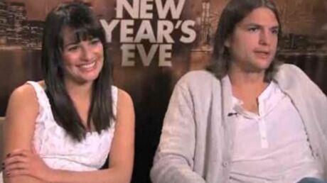 Ashton Kutcher met un vent à Lea Michele