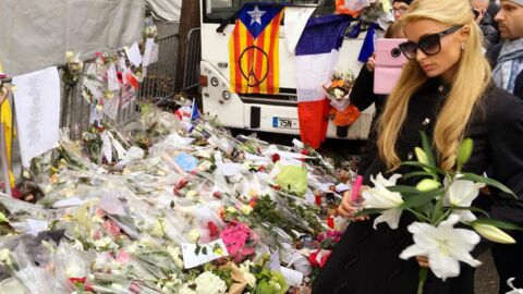 PHOTOS Paris Hilton: de passage à Paris, elle s'est recueillie devant le Bataclan