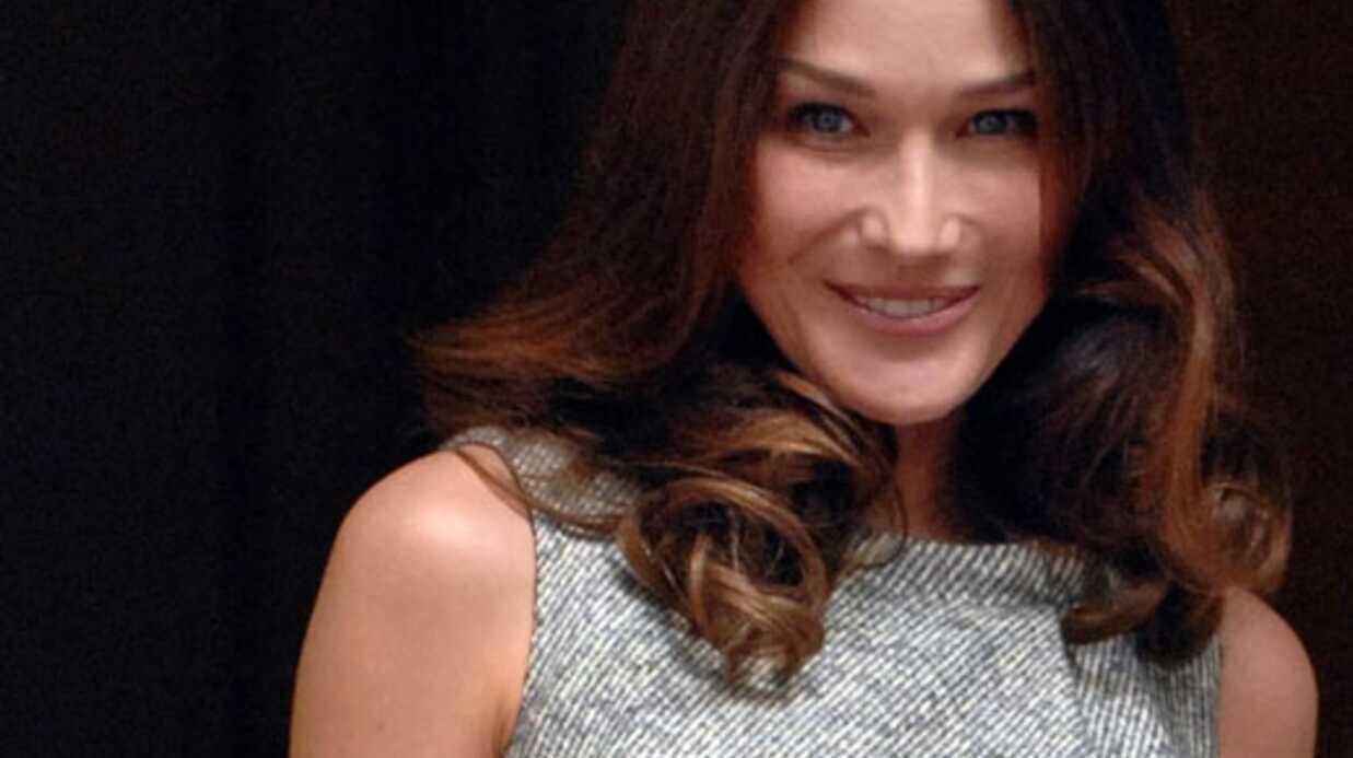 Carla Bruni fan de Plus Belle la vie et de l'Amour est dans le pré