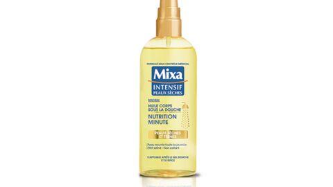 Mixa invite l'huile pour le corps sous la douche