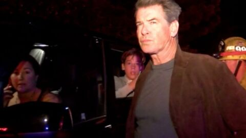 PHOTOS Pierce Brosnan en panique : un incendie touche sa maison