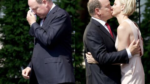 PHOTOS Albert de Monaco pleure après la déclaration d'amour de Charlène en français