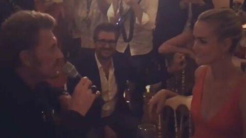 VIDEO Johnny Hallyday chante tout son amour pour Laeticia
