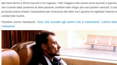 Johnny Hallyday pris pour un exhibitionniste sexuel dans la presse italienne