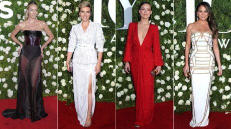 PHOTOS Tony Awards: Olivia Wilde très décolletée, Scarlett Johansson mise sur la jupe fendue
