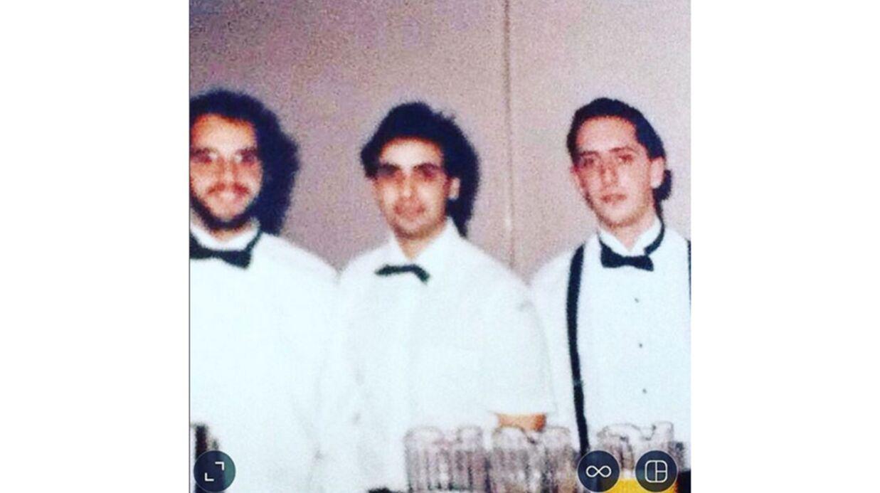 Gad Elmaleh partage une photo de lui quand il était serveur dans les années 90