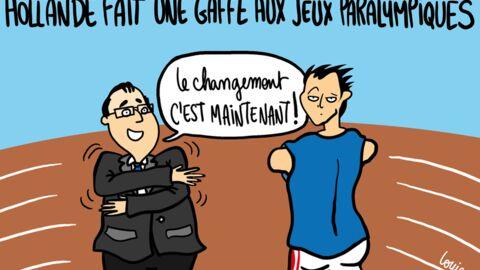 Louison a croqué: la gaffe de François Hollande aux jeux paralympiques