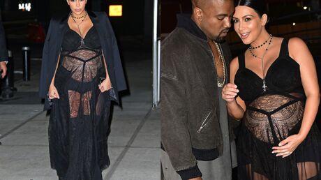PHOTOS Kim Kardashian ose la robe de grossesse TRÈS transparente