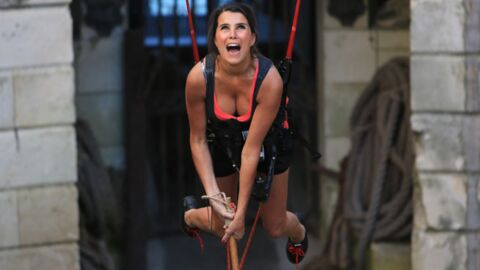 DIAPO Karine Ferri défend l'association Gregory Lemarchal à Fort Boyard