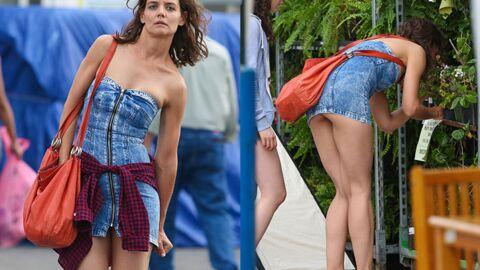 PHOTOS Katie Holmes: trahie par sa robe trop courte, elle dévoile ses fesses