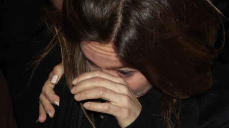 Cérémonie hommage à Roger Hanin: les larmes d'Emmanuelle Boidron, sa fille dans Navarro