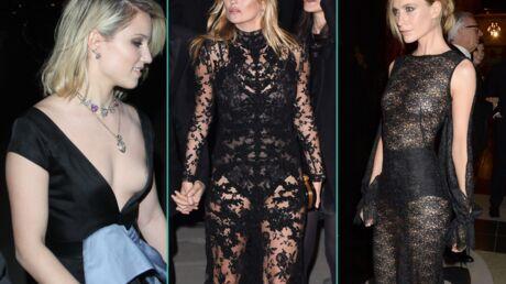 PHOTOS Kate Moss tout en transparence et accident de décolleté pour une actrice de Glee à Londres