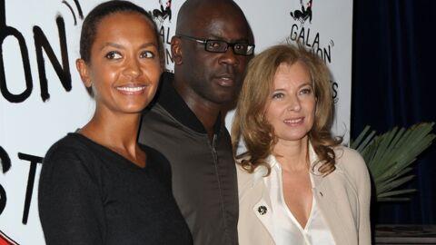 DIAPO Valérie Trierweiler et Karine Le Marchand à l'Union des artistes