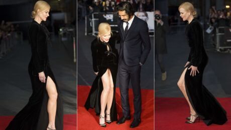 PHOTOS Nicole Kidman galère avec sa robe très fendue