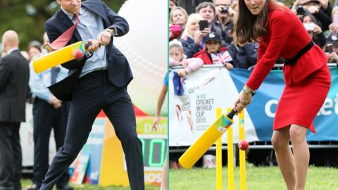 PHOTOS Kate Middleton joue au cricket et évite une balle vicieuse de William