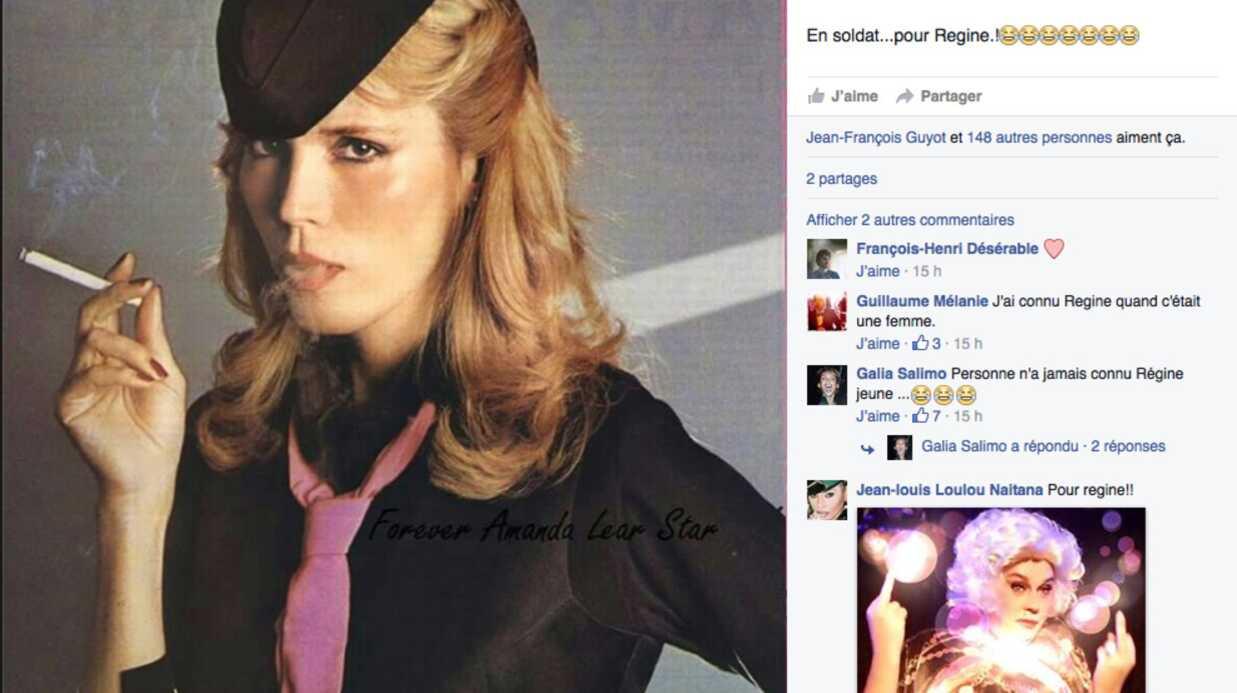La réponse d'Amanda Lear à Régine qui dit l'avoir «connue en garçon»