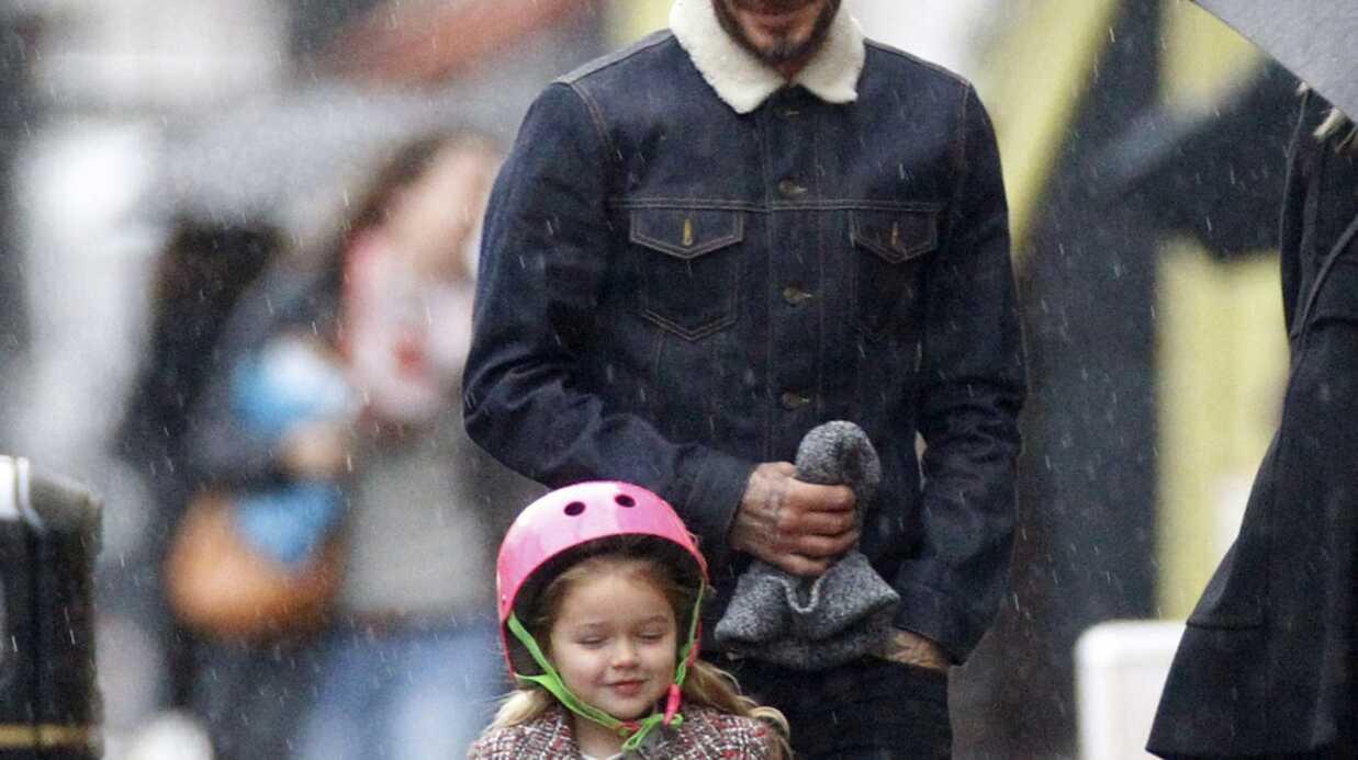 PHOTOS David Beckham et Harper: un duo père/fille craquant en balade à Londres