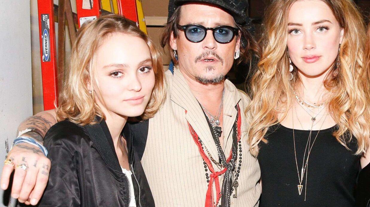DIAPO Lilly-Rose avec sa belle mère Amber Heard pour applaudir Johnny Depp