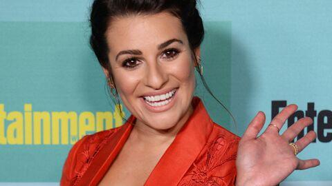 DIAPO Lea Michele (Glee) nue sous sa veste de tailleur à la soirée de clôture du Comic-Con