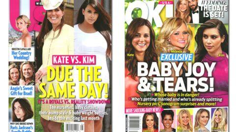 En direct des US: Kate et Kim accoucheront le même jour!