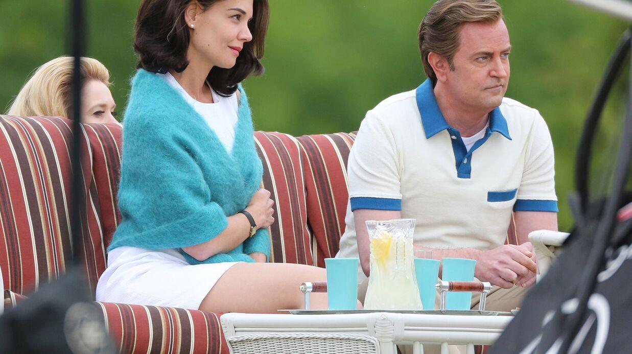 PHOTOS Katie Holmes et Matthew Perry sur le tournage de la série les Kennedy: un drôle de duo