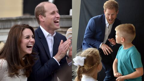 PHOTOS Kate Middleton, princes William et Harry: ils s'éclatent dans les jardins de Buckingham