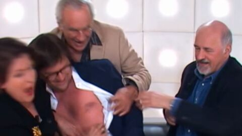 VIDEO Laurent Romejko topless à la télé!