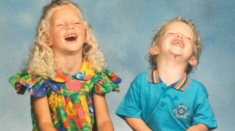 DEVINETTE Quelle célèbre chanteuse se cache derrière cette fillette hilare avec son petit frère?