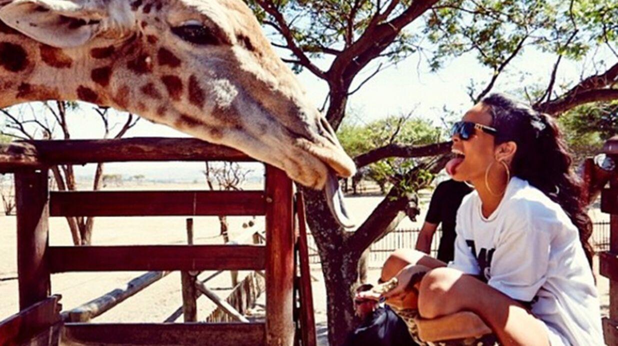 DIAPO Rihanna s'amuse avec des animaux sauvages en Afrique
