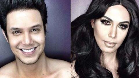 DIAPO Kim Kardashian, Lady Di: les incroyables transformations d'un présentateur grâce au maquillage