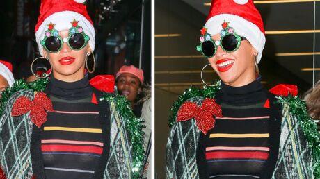 PHOTOS Beyoncé habillée en sapin de Noël pour une fête
