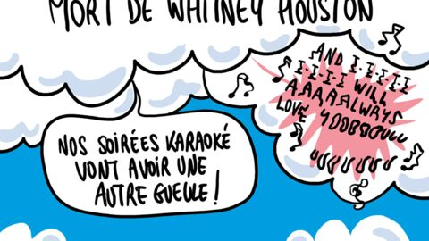 Louison a croqué… Whitney Houston nous a quittés