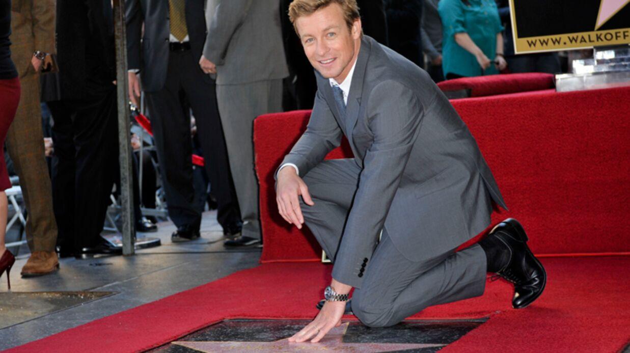 DIAPO Simon Baker (Mentalist) inaugure son étoile à Hollywood