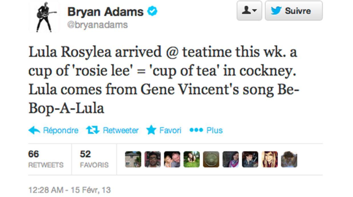 Bryan Adams papa pour la deuxième fois en moins de deux ans